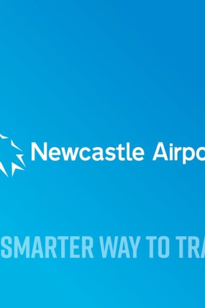 Newcastle Airport infographic collateral