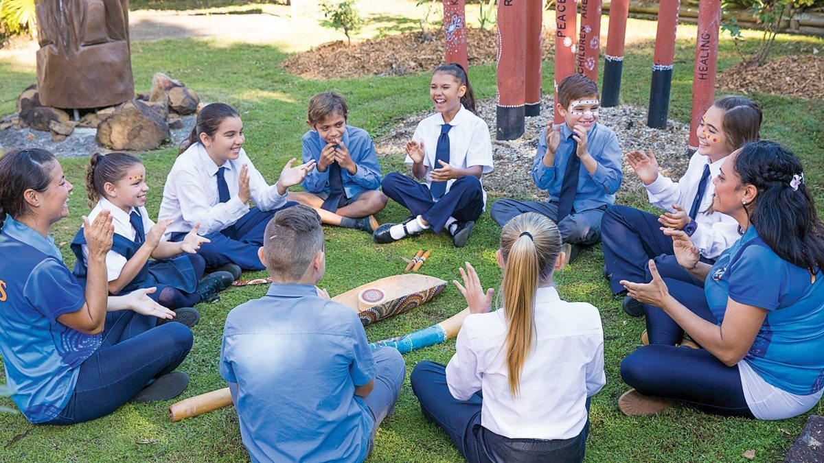 Catholic Schools Office Aboriginal Torres Strait Islander students in playground