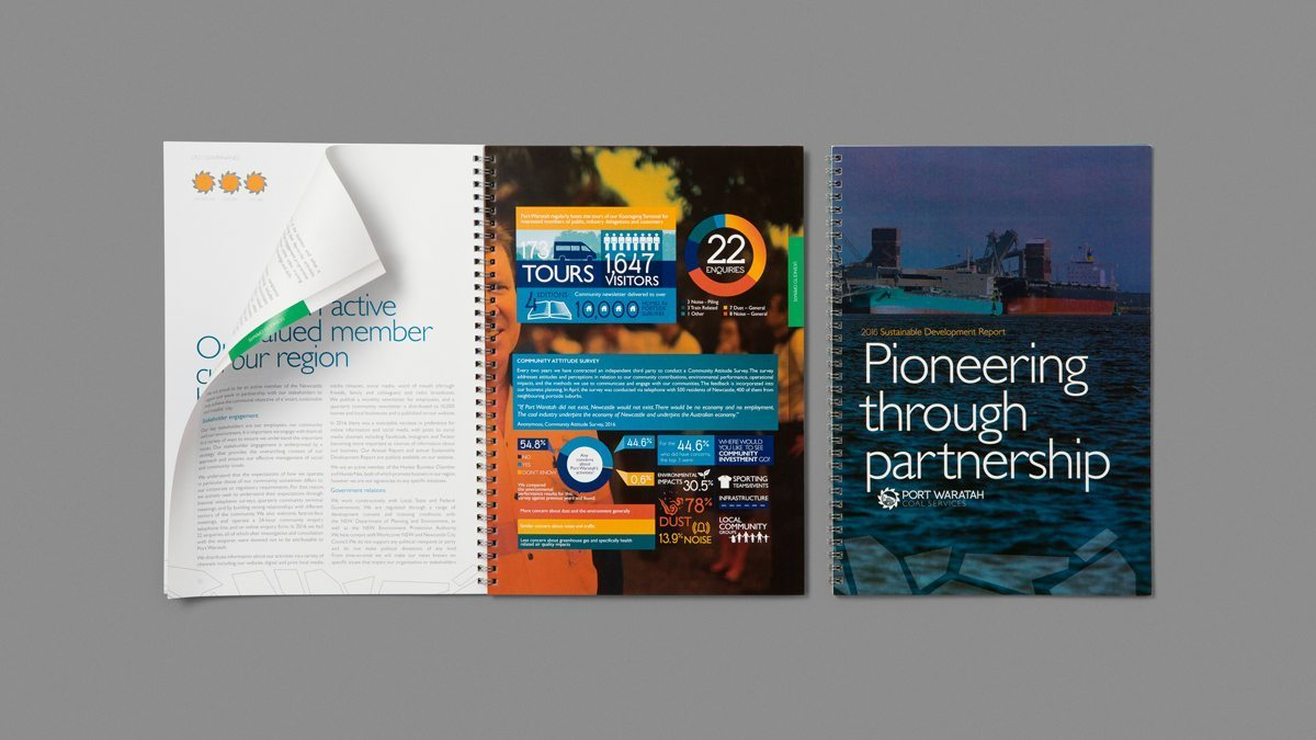 Port Waratah printed collateral
