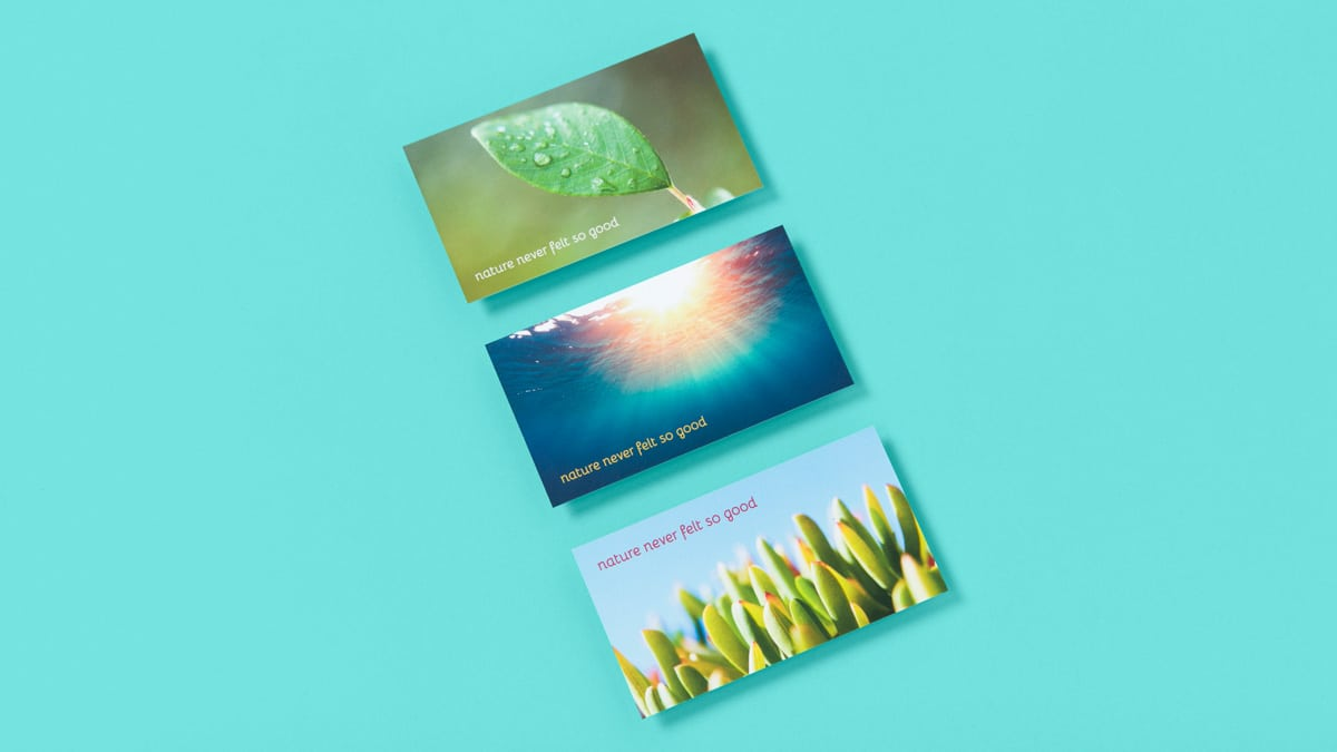 Nature never felt so good - Business Cards