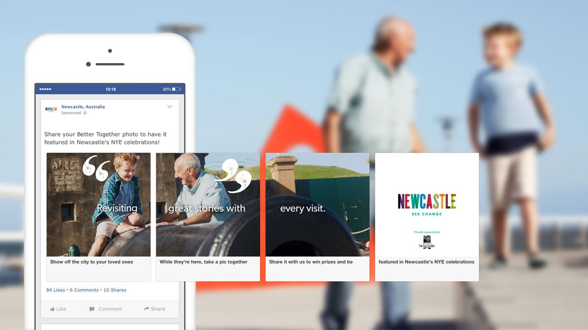 Newcastle City Council - Better Together - Facebook Creative